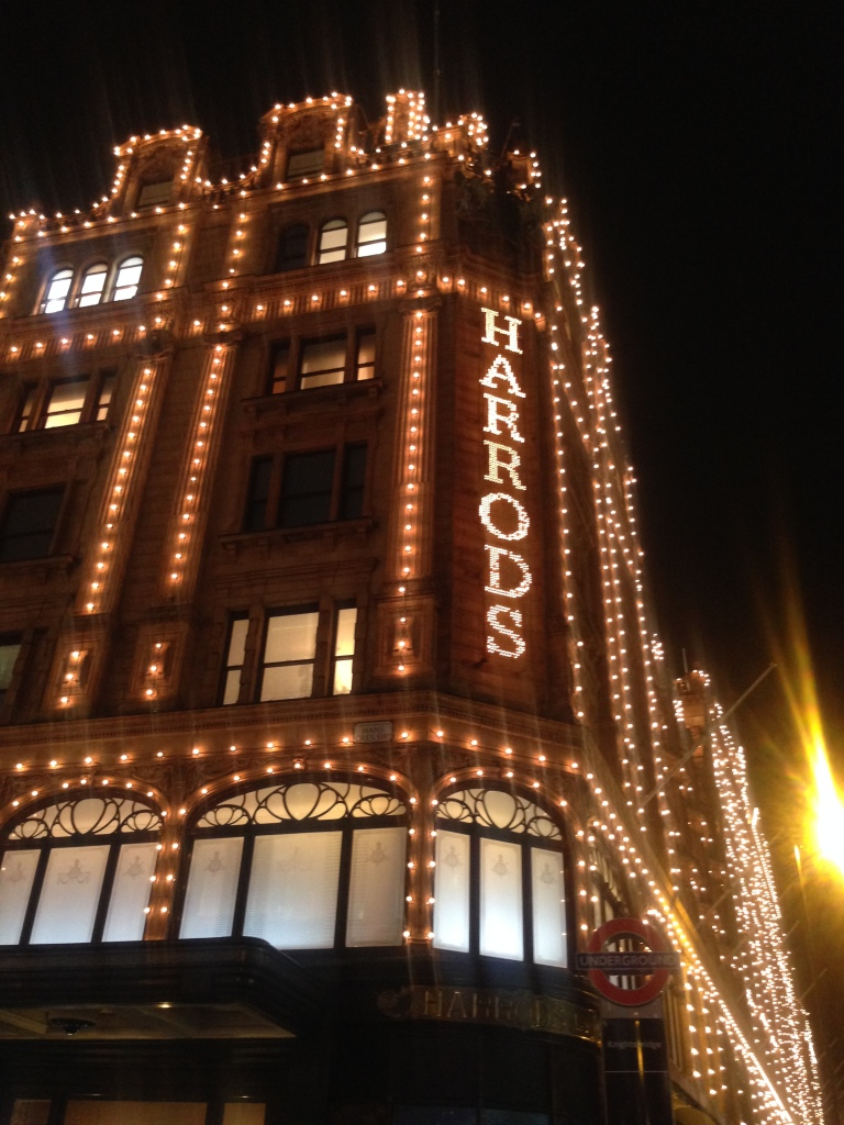 Harrods with Xmas lights!