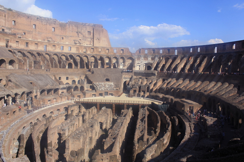 The inside view of the Colosseum