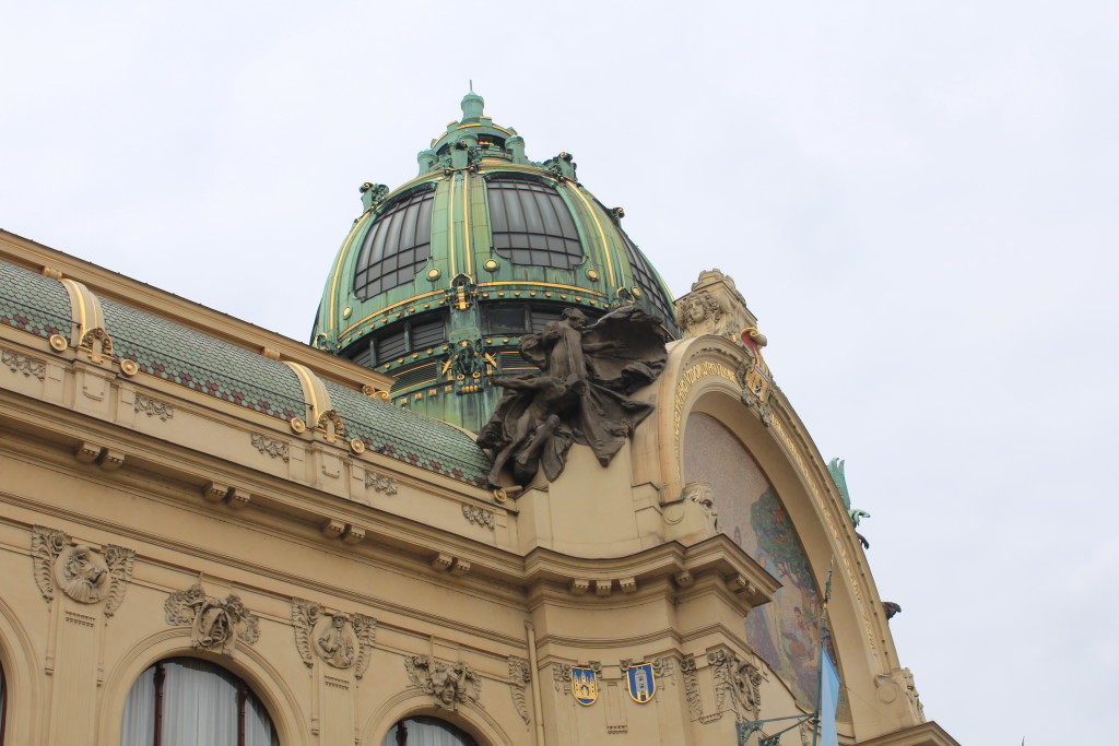 Details on the Municipal House building.