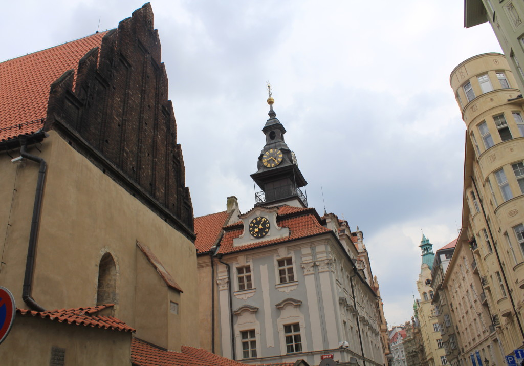 The Old New Synagogue in the Jewish Quarter.